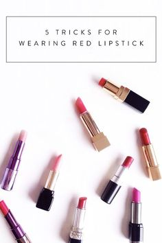 5 Tricks for Wearing Red Lipstick. How to make it look sleeker and stay on longer.