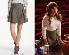 Nordstrom Hinge Metallic Tweed Skater Skirt - $40.80 (40% off!) Worn with:H&M hat,Tory Burch sunglasses,Marc by Marc Jacobs sweater,...