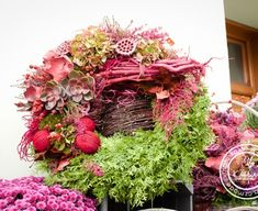 Casket Flowers, Grapevine Wreath, Grape Vines, Flower Arrangements, Floral Wreath, Wreaths, Halloween, Decor, Fall Pumpkins