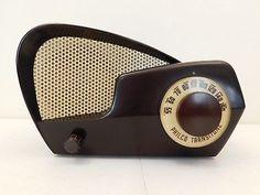 VINTAGE-40s-GEM-MINT-PHILCO-JETSONS-ATOMIC-ANTIQUE-MID-CENTURY-OLD-WORKING-RADIO