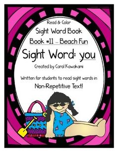 Sight word books - This sight word book was written to practice the basic sight wordyou. The text in this sight word book is written in NON-REPETITIVE text so students must attend to print!   The text and graphics are clear in this sight word book for easy access for young children.