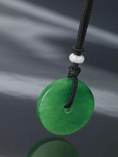 Margueritecaicai jade pinterest jade gems and gemstone fine jadeite disc and diamond pendant necklace estimate 1300000 1500000 hkd 167661 mozeypictures Images