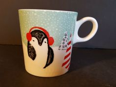 Starbucks Christmas Penguin 10 Ounces Coffee Cup Mug Christmas Items, All Things Christmas, Vintage Christmas, Christmas Holidays, Starbucks Christmas, Christmas Coffee, Starbucks Drinks, Starbucks Coffee, Penguin Mug