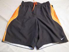 Men's swim trunks shorts Nike board charcoal orng S tfss0277 825 su13402 718375 #Nike #swimshorts