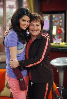 Selena Gomez as Alex Russo on the set of a Wizards Of Waverly Place episode.