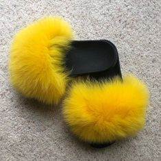 3ccaa542fe 8 Best Luxury Plush Fur Slides images in 2019