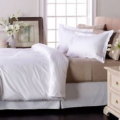 Sateen White & Ivory Sham. Wedding Gifts, Pillow Cases, Pillows, Bed, Ivory, Furniture, Home Decor, Wedding Day Gifts, Decoration Home
