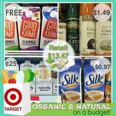 ORGANIC & NATURAL ON A BUDGET $13.47..... for.. under $3.00!! . Great Deals to get you started off this year. All deals are from Target. . All you need is the following: CLICK the link in my bio @tomorrowsmom or GO to your computer and visit TomorrowsMom.com. . Get printer ready to print coupons. . Head to the store to grab these items as instructed on the post. .  Feel Free to DM me or comment any questions. . #usingcoupons #forthegoodstuff