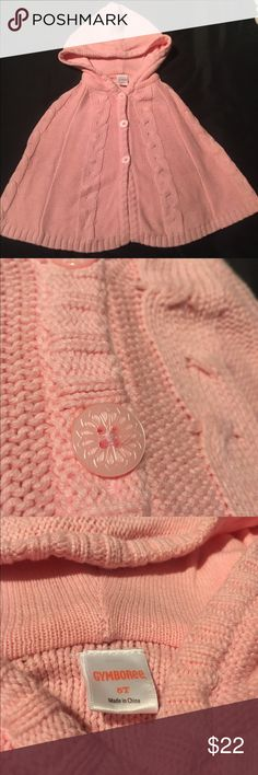 Pink poncho for girls. This is also a new poncho who you can twin with!! Enjoy!! Gymboree Jackets & Coats Capes