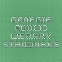 Georgia Public Library Standards