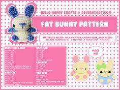 Fat Bunny  - Free Amigurumi Pattern