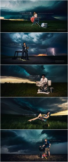 Inspired by the looming threat of climate change, photographer Benjamin Von Wong pulled out all the stops to create a collection of surreal storm-chasing portraits.
