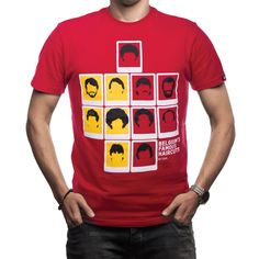 Show details for COPA Football - Belgium's Famous Haircuts T-Shirt - Red