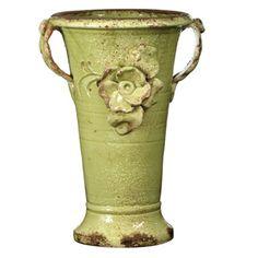 Vietri Small Pistachio Trumpet Vase