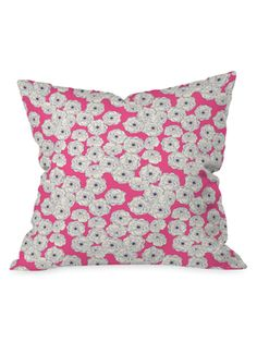 Floral Sophistication Throw Pillow from Think Spring: Floral Pillows From $29 on Gilt