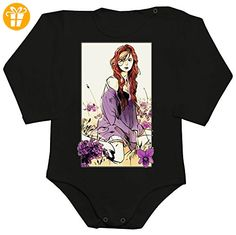 Clary Fray With Flowers Baby Romper Long Sleeve Bodysuit Small - Baby bodys baby einteiler baby stampler (*Partner-Link)