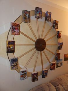 """My Wheel of Time bookshelf Finished it. When you spin it, the books will stay level. My thanks for Robert Jordan and Brandon Sanderson's Masterpiece. """"The Wheel of Time turns, ……."""