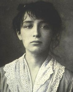 """Camille Claudel, French sculptor and longtime lover of Auguste Rodin. Their relationship was the subject of the 1989 French movie """"Camille Claudel"""" starring Isabell Adjani. She went insane. Camille Claudel, Auguste Rodin, Women In History, Art History, Hilma Af Klint, French Sculptor, Isabelle Adjani, Photo Portrait, Portraits"""