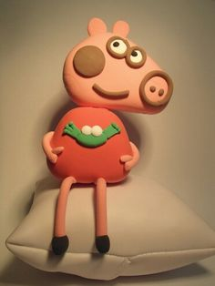Polymer clay peppa pig