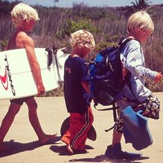 Professional surfer John John Florence with his little brother. Soo cute!