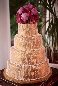 Navy, Fuchsia & Gold Wedding Inspirations-Cake