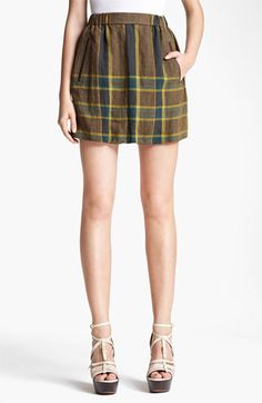 Burberry Brit Linen Skirt available at #Nordstrom