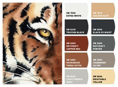 """""""Eye of the Tiger""""  Color Palette Inspiration Chip It! by Sherwin-Williams – ChipCard by Christy C."""