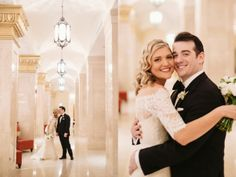 Dan and Katie's Classy Black, White and Gold Wedding at the Rookery in Chicago » Two Birds Photography