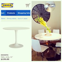 Ikea hack. Before and after. DIY - $5 + 20 minutes = a more custom, dirt hiding DOCKSTA table! http://www.astarrylife.com/design/spray-paint-project