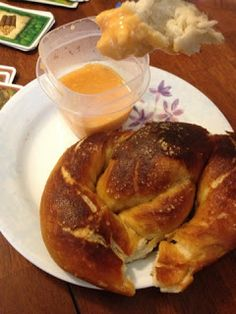 Soft Pretzels with Buffalo Cheese Dipping Sauce