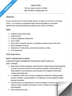 Great Real Estate Administrative Assistant Resume