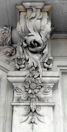 ⌖ Architectural Adornments ⌖ ornate building details - decorative column details
