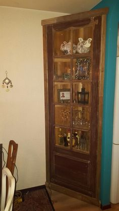 Hoekkast oude franse deur