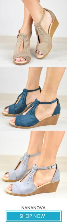 193f876dd2c 29 Best Wedge Sandals images in 2019