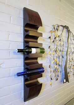 Awesome!  Hanging wall wine rack.
