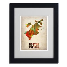 @Overstock.com - Naxart 'Boston Watercolor Map' Framed Matted Art - Artist: NaxartTitle: 'Boston Watercolor Map'Product type: Framed Giclee Print  http://www.overstock.com/Home-Garden/Naxart-Boston-Watercolor-Map-Framed-Matted-Art/8353531/product.html?CID=214117 $54.99