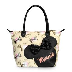 Minnie Mouse with sequins bows tote. #MinnieStyle