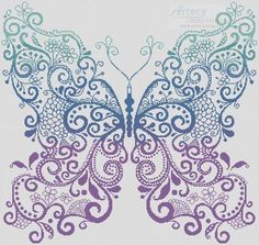 Artecy ~ Purple Blue Green Butterfly