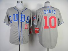 2014 New Chicago Cubs #10 Ron Santo Grey Jersey