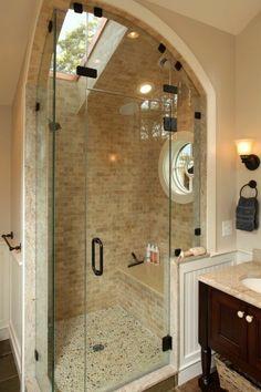 Une salle de bain sous pente ou sous combles en 52 photos!   En ...