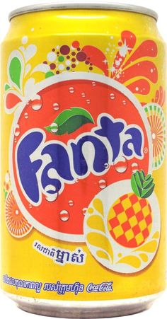 FANTA-Pineapple Coca Cola Tumblr, Cheeseburger In Paradise, Juice Branding, Drink Labels, Fanta Can, Japanese Snacks, Juice Drinks, Pepsi Cola, Weird Food
