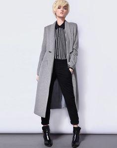 $34.44 Long grey coat.