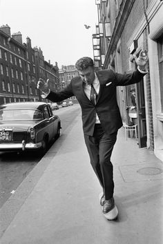 Frankie Howard and a skateboard, 1964