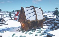 Viking's Winter House By u/TwinSaw Minecraft Medieval, Minecraft Plans, Minecraft Survival, Minecraft Tutorial, Minecraft Blueprints, How To Play Minecraft, Cool Minecraft, Minecraft House Designs, Minecraft Creations