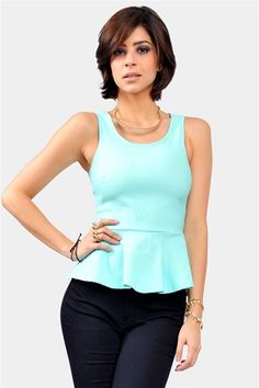 Peplum Top - Mint | Necessary Clothing
