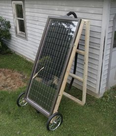Build Your Own Soda Can Solar Heater. Perfect for heating a Greenhouse or a smal. - Build Your Own Soda Can Solar Heater. Perfect for heating a Greenhouse or a small garage Outdoor Projects, Home Projects, Solar Projects, Heating A Greenhouse, Greenhouse Ideas, Homemade Greenhouse, Indoor Greenhouse, Small Greenhouse, Winter Greenhouse