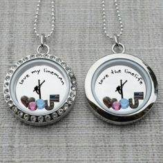Floating locket. Love My Lineman available at linejunk.com