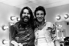 1978 Bob Seger meeting  Bruce  Springsteen  for  the  first  time