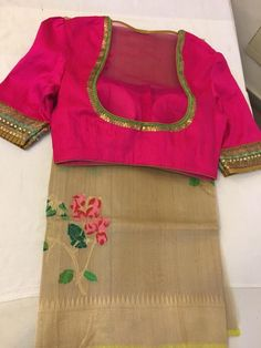 Traditional Blouse Designs, Fancy Blouse Designs, Blouse Neck Designs, Blouse Styles, Saree Blouse Patterns, Designer Blouse Patterns, Blouse Models, Clothes For Women, Work Blouse