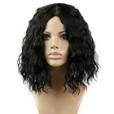 Classic Fashion Womens Lady's Cheap Wig Short Curly Black Hair Wigs Full Wigs Heat Resistant Synthetic Hair wigs + Free Gift-in Synthetic Wigs from Health & Beauty on Aliexpress.com | Alibaba Group